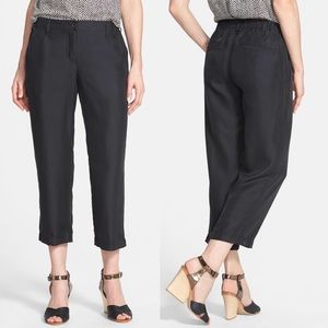 Eileen Fisher 100% Silk Cropped Cargo Pants